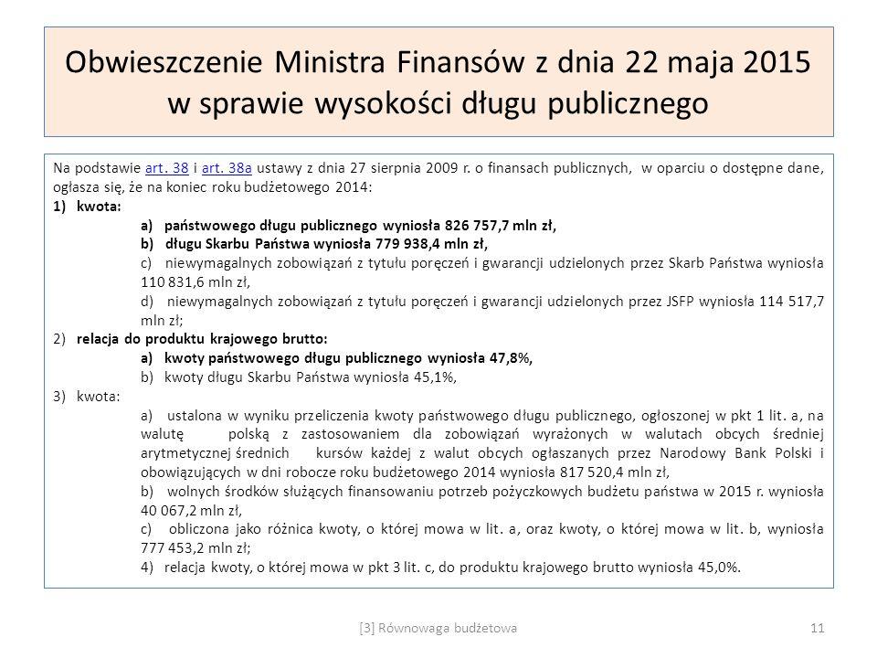 [3] Równowaga budżetowa